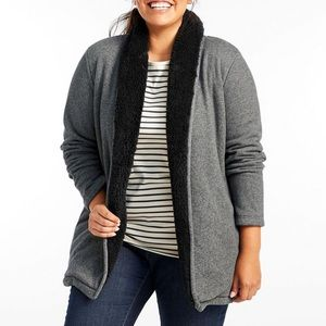 LL Bean Sherpa-lined Cozy Cardigan